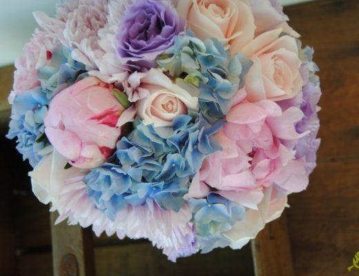 Ramo novia hortensia azul
