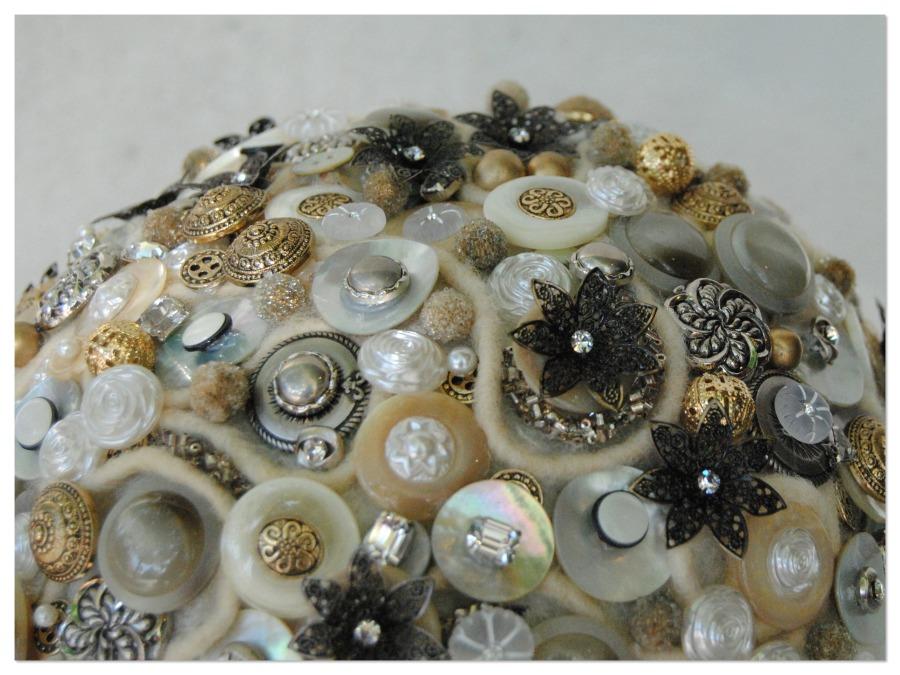 Ramo de novia con botones Mayula flores