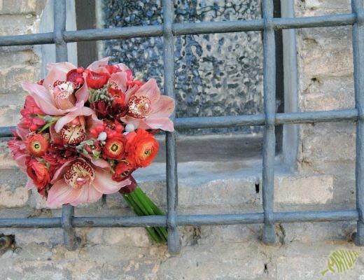 Ramo de Novia rojo Mayula flores Zaragoza