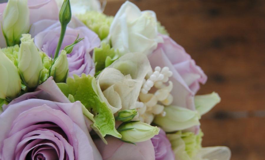 Ramo de novia rosas lilas Mayula Flores