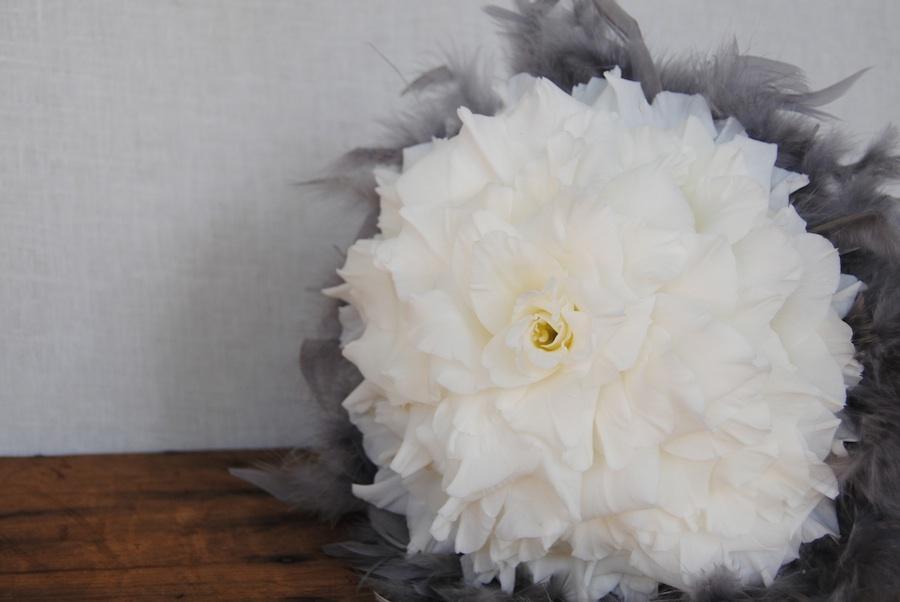 rosmelia de gladiolo con pluma