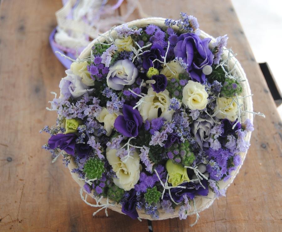 ramo de novia morado
