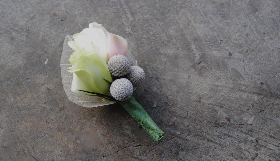 Flor para la solapa del novio