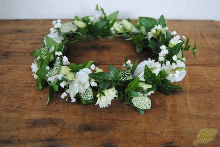 Coronas flores comunion flor natural blanco