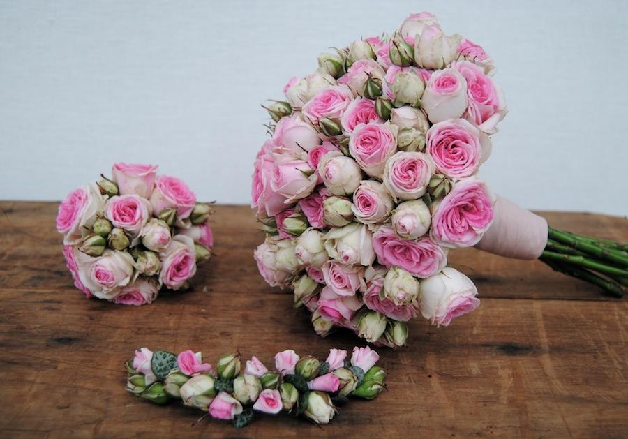 Ramo de novia con rosas mimi eden
