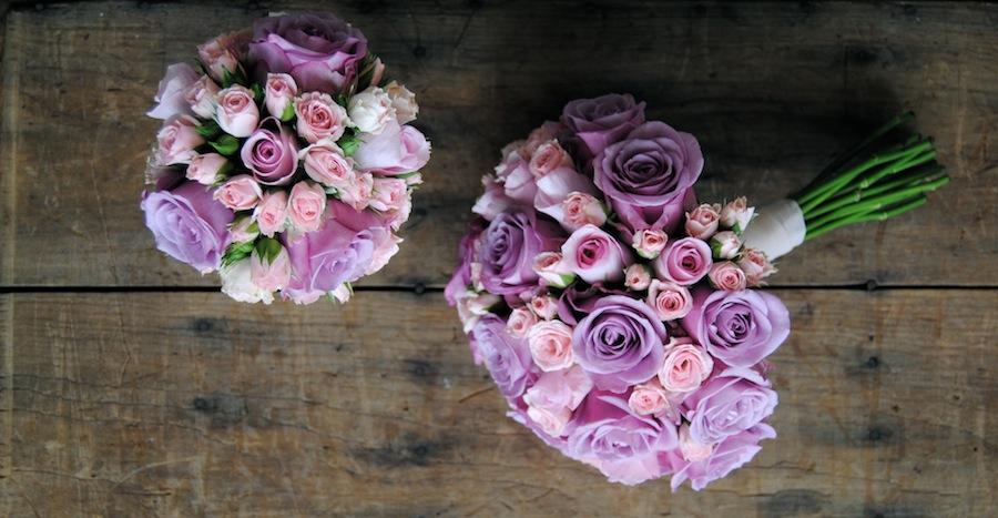 ramop novia rosas lilas y rosas