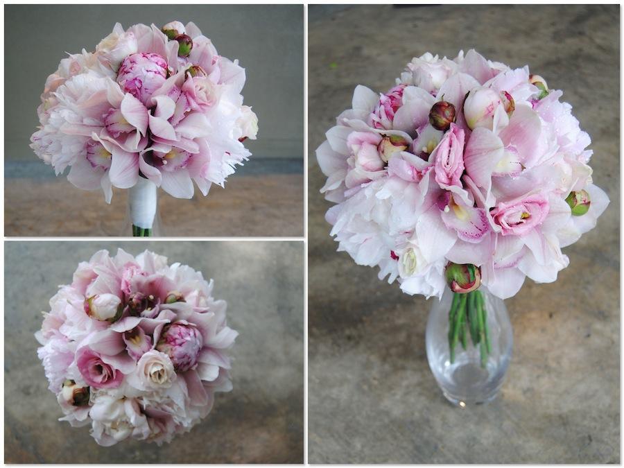 Bouquet dulce y romántico Peonias y rosas