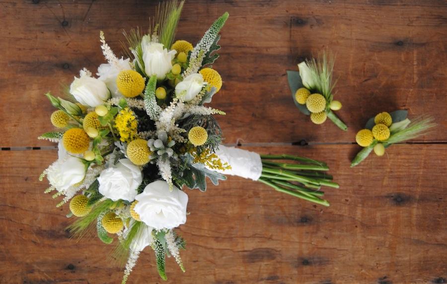 Ramo Novia amarillo blanco