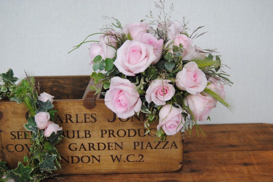 ramo novia silvestre rosa