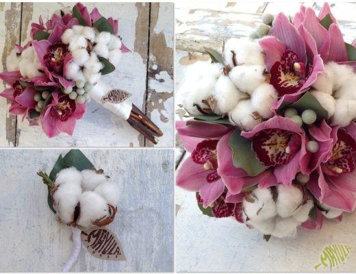 Ramo novia de algodón