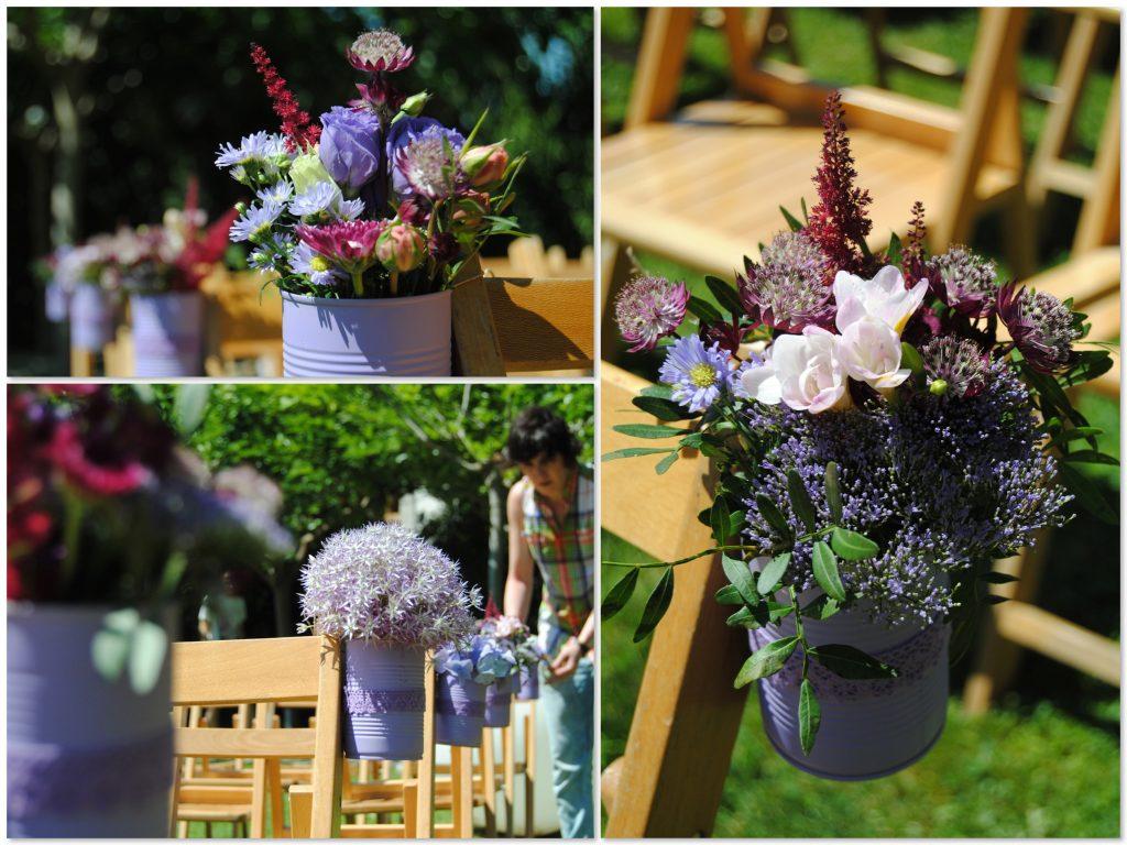 Decoración boda lila sansui