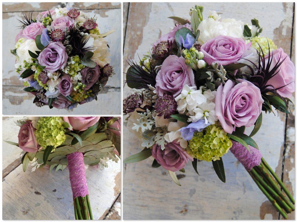 Ramo de novia en lilas y morados