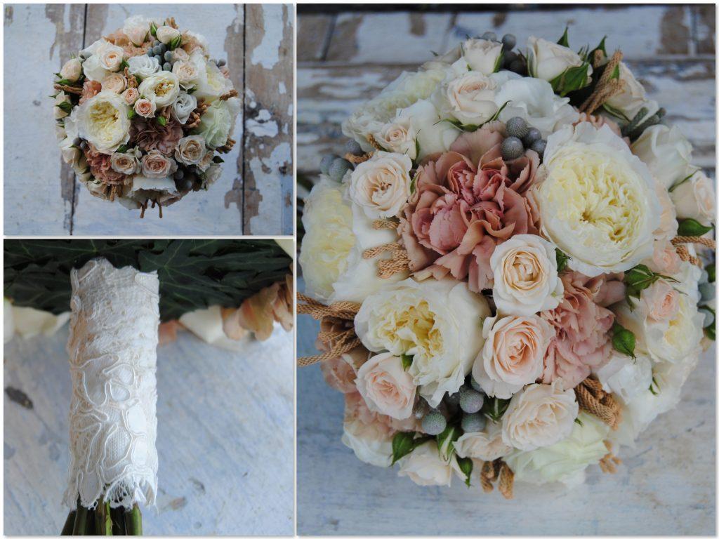 ramo de novia color tostado