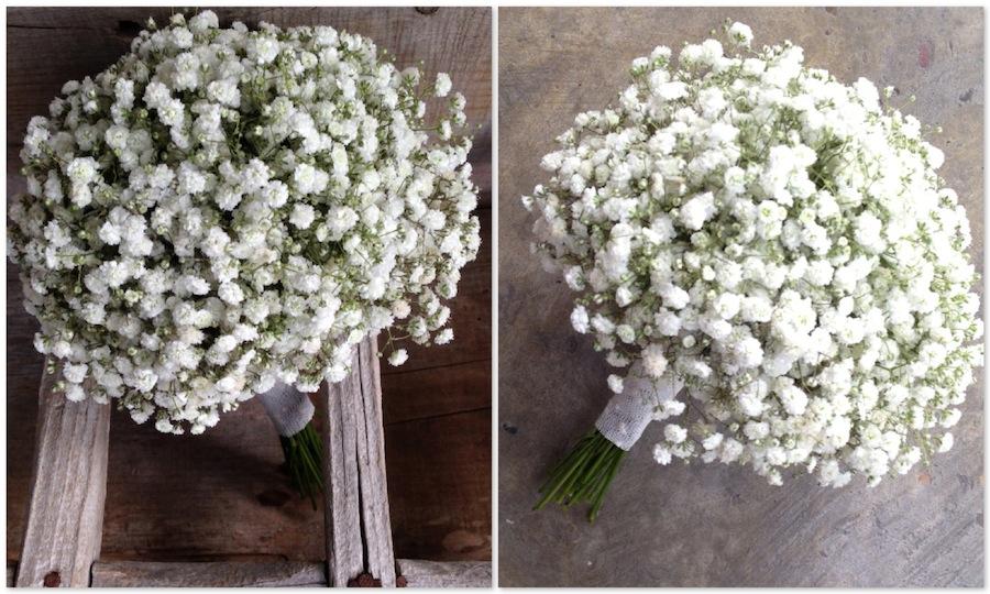 ramo sencillo y económico de novia con paniculata