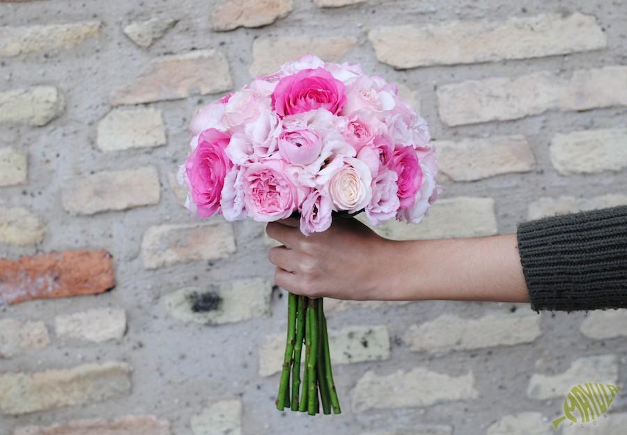 Bouquet con rosas David Austin