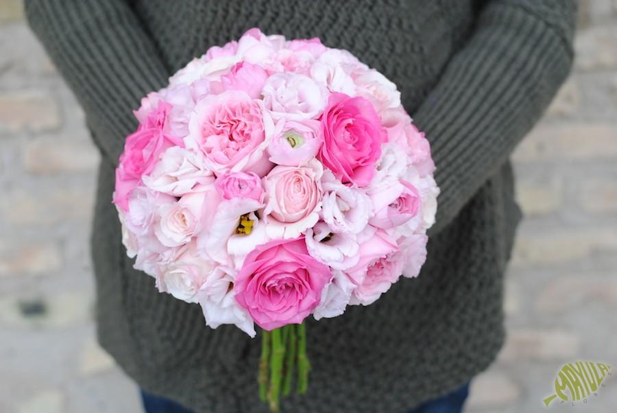 Bouquet para novia con rosas David Austin