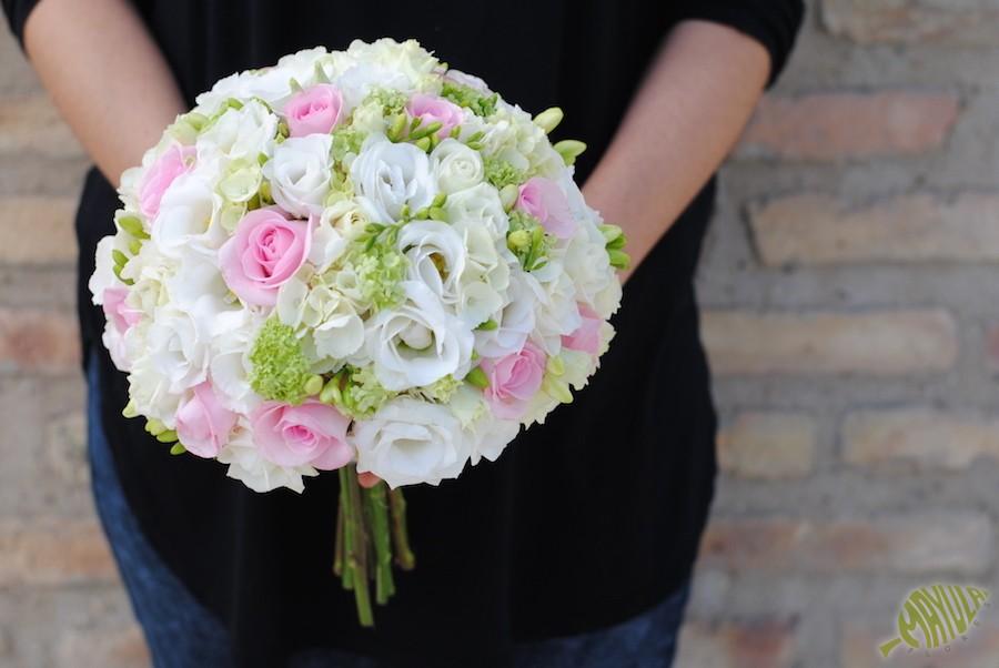 bouquet novia romantico Zaragoza
