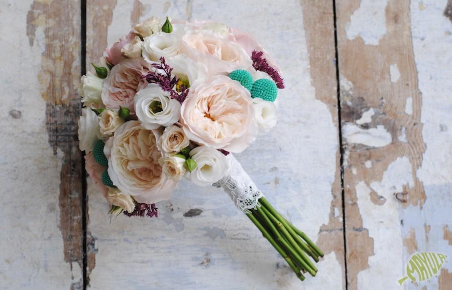 bouquet rosa inglesa Zaragoza