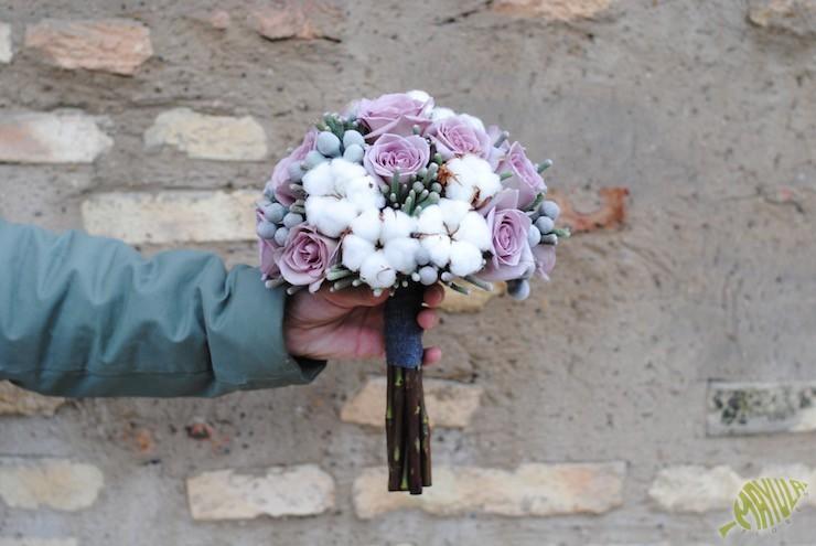ramo novia algodon