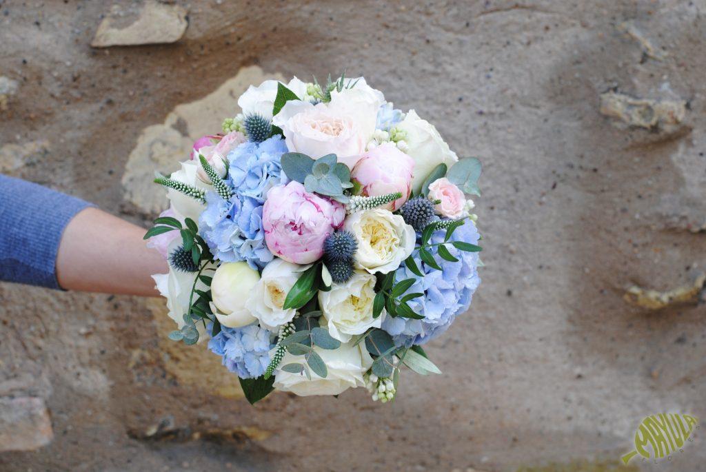 hortensia ramo de novia