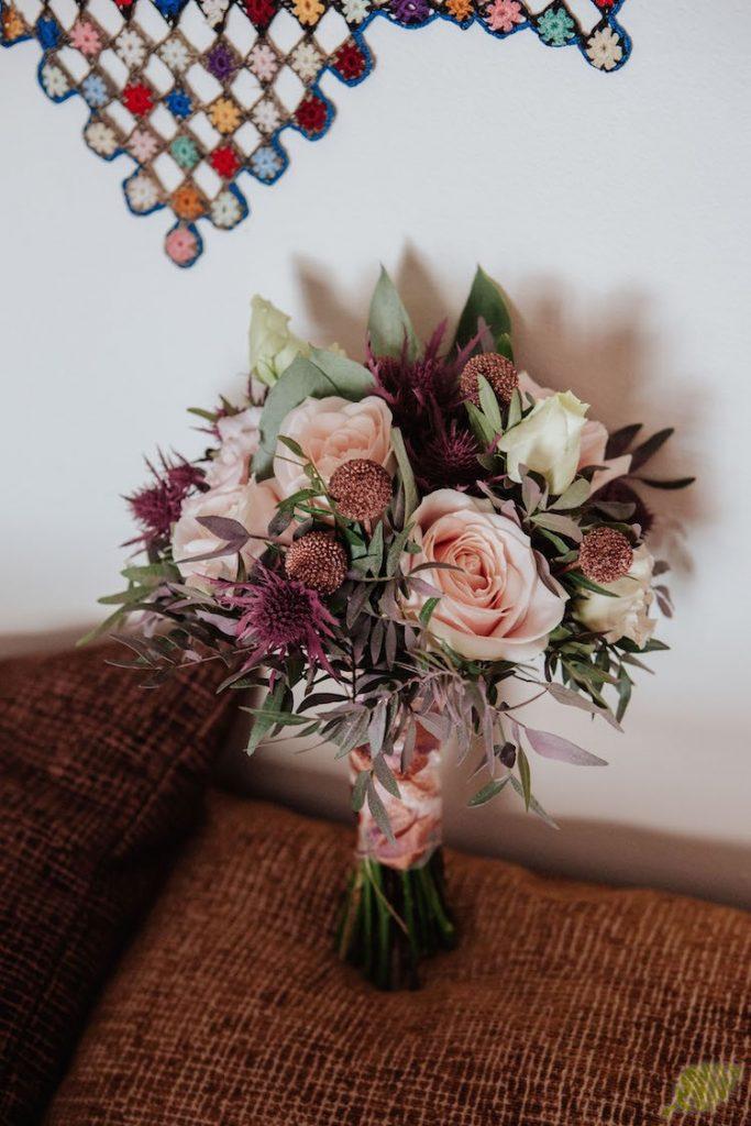 bordados y flores